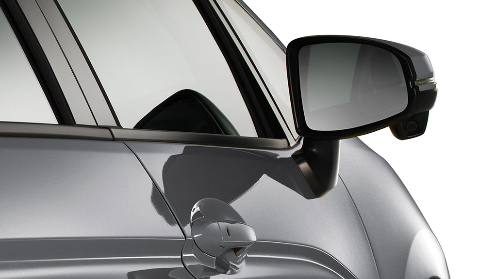 Power door mirrors with intergrated LED turn indicators