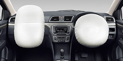 Dual front airbags