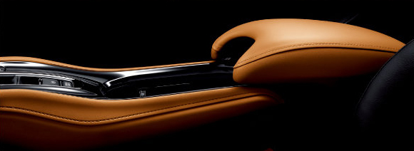 Leather mounted center console
