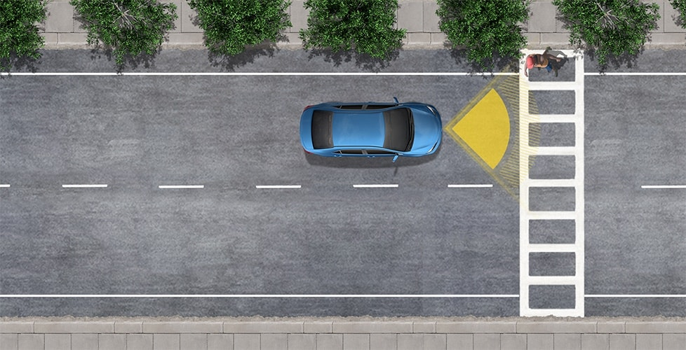 Standard Pre-Collision system with Pedestrian Detection