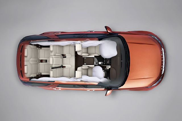 Eight driver and passenger airbags provides excellent protection for all the vehicle's occupants