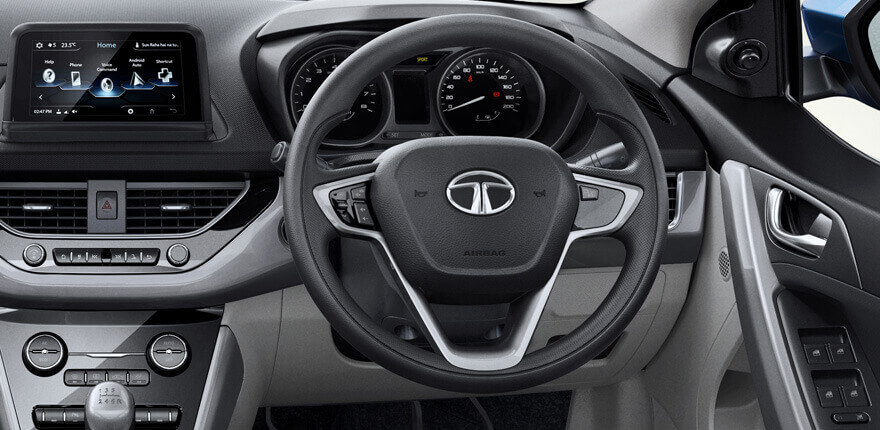 The Nexon's dashboard gets a contemporary design, without trying to be too futuristic.