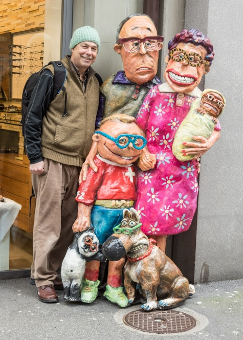 "Ralph with ""friends"" in Geneva, Switzerland."