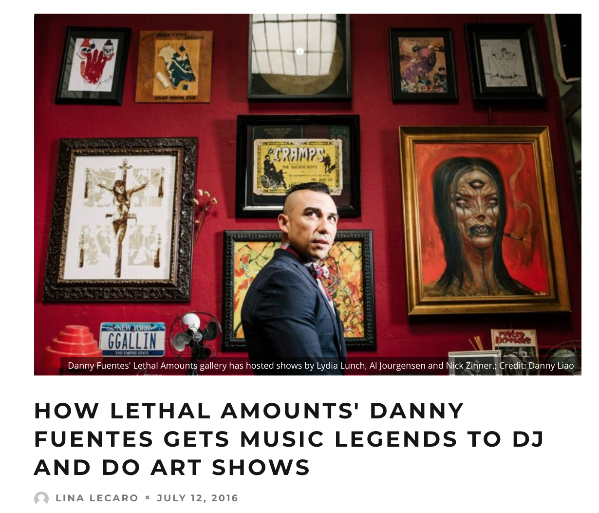 LA WEEKLY - feature on gallery and promoting style of Lethal Amounts gallery