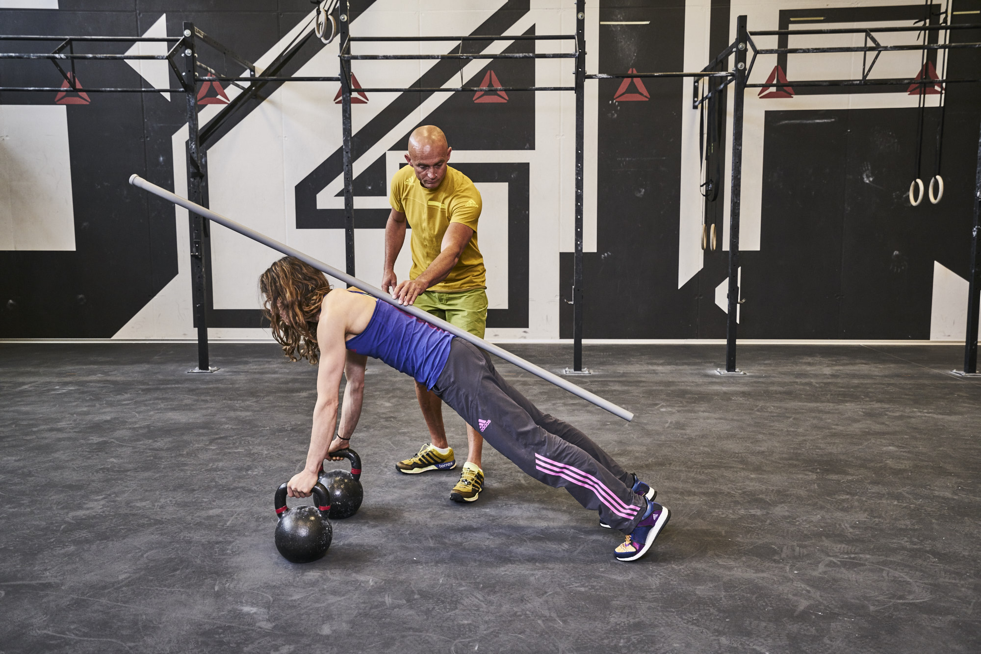 Dicki training with Mélissa Le Nevé.