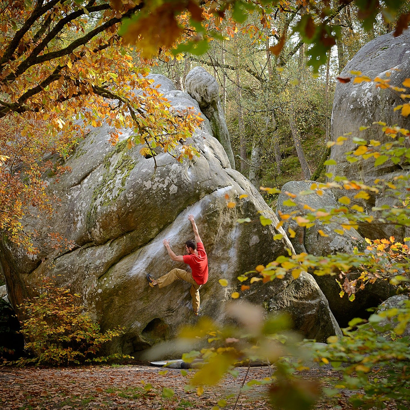 Nick Bradley on La Rampe directe, 7A . Photographer: Rob Lonsdale.