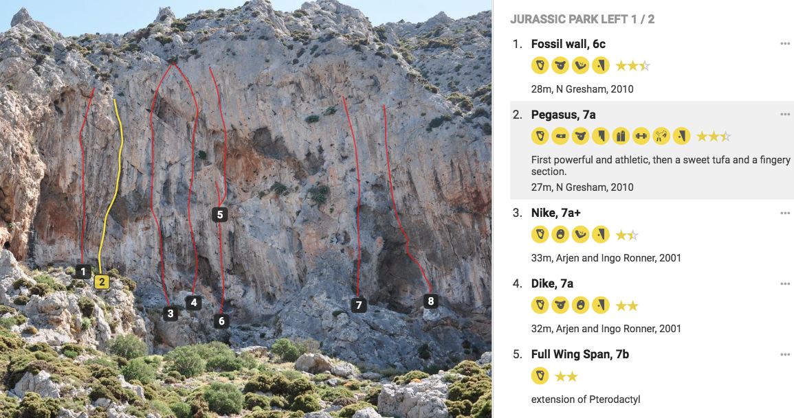 Example of the topo images on 27 Crags .premium.