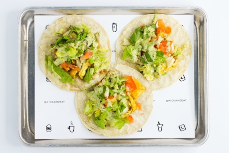 Pick and Eat's Breakfast Tacos