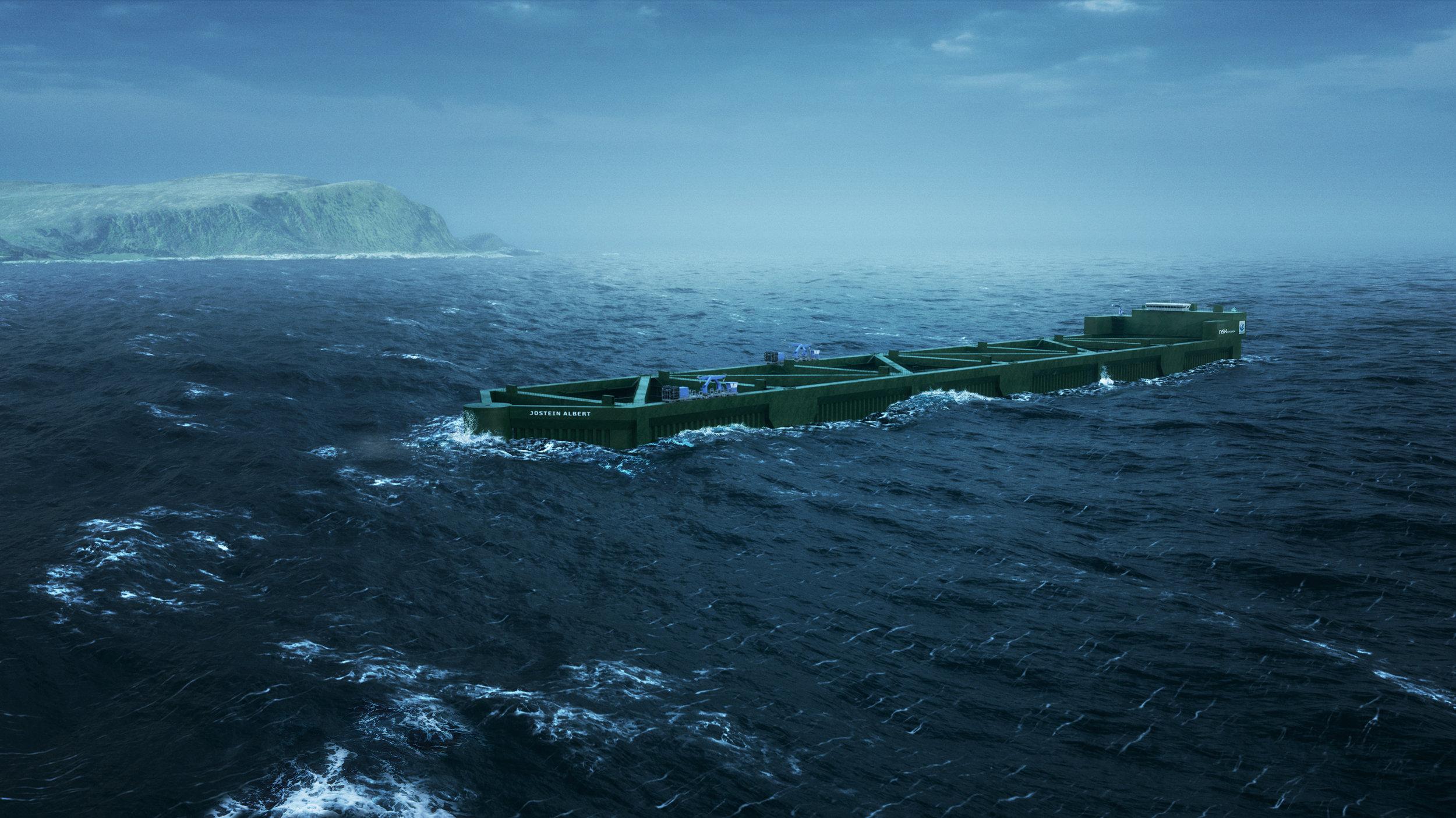 Stasjonær Havfarm - Blir 385 meter lang, nærmere 60 meter bred og er tiltenkt en lokalitet sør-vest av Hadseløya i Hadsel kommune. Planen er å sette ut fisk i Havfarmen våren 2020.