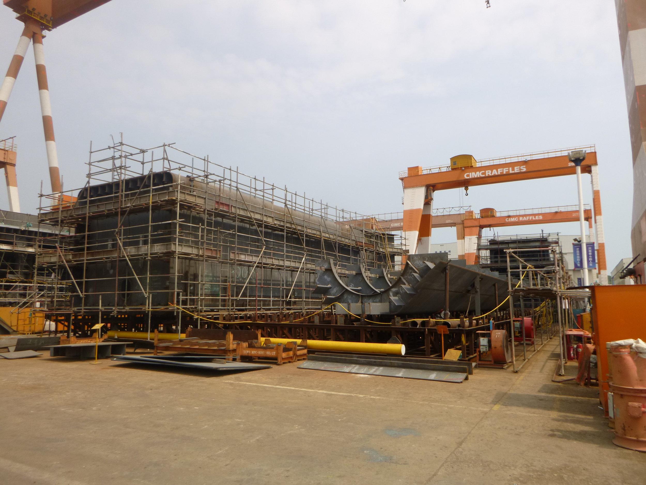 Bygging av Havfarm i Yantai/Haiyang