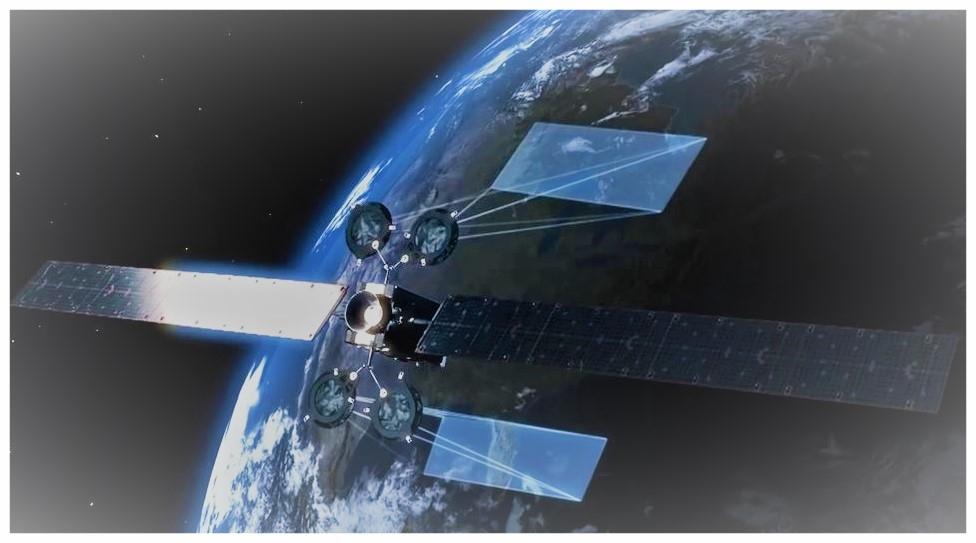 Satellite géostationnaire opérant sur une région