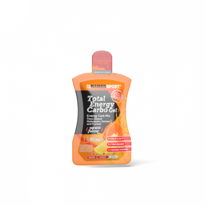Total Energy Carbo Gel   Energy-rich gel formulated with Maltodextrin, Dextrose and Fructose, featuring Sodium and Potassium.