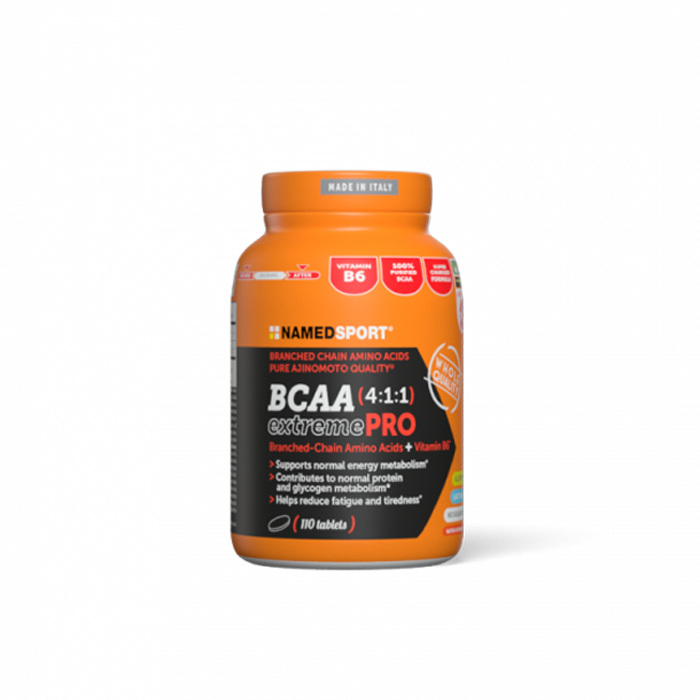 BCAA 4:1:1 extremePRO  is a supplement with high quality branched-chain amino acids using highly pure Ajipure® ingredients (1g/tablet). The formulation is free from fats, carbohydrates, gluten and lactose.