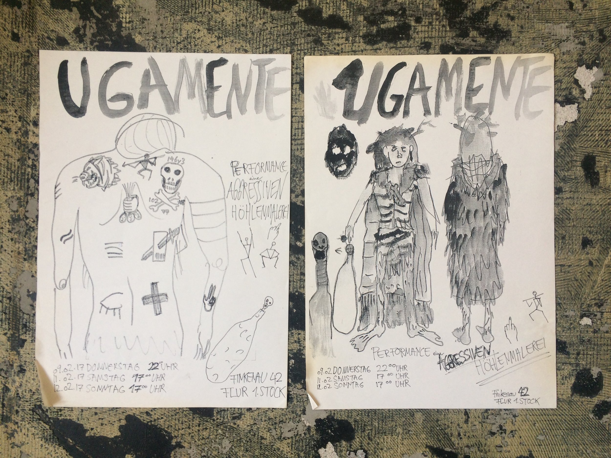 UGAMENTE - agressive cave painting