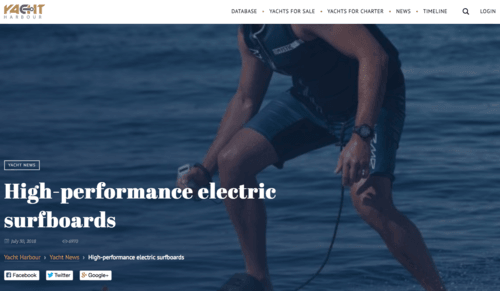 Awake Electric surfboards – Yacht Harbour