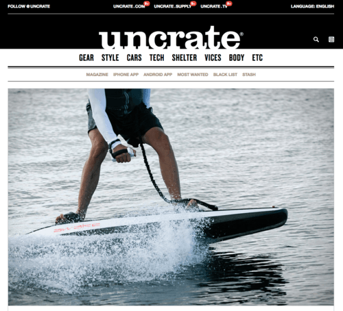 Electric surfboards – Awake RÄVIK in Uncrate