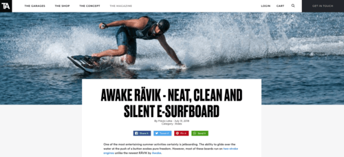 ThaArsenale and Awake Electric Surfboards