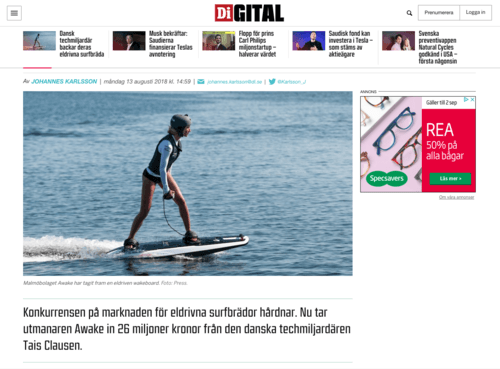Electric surfboard i dagens industri