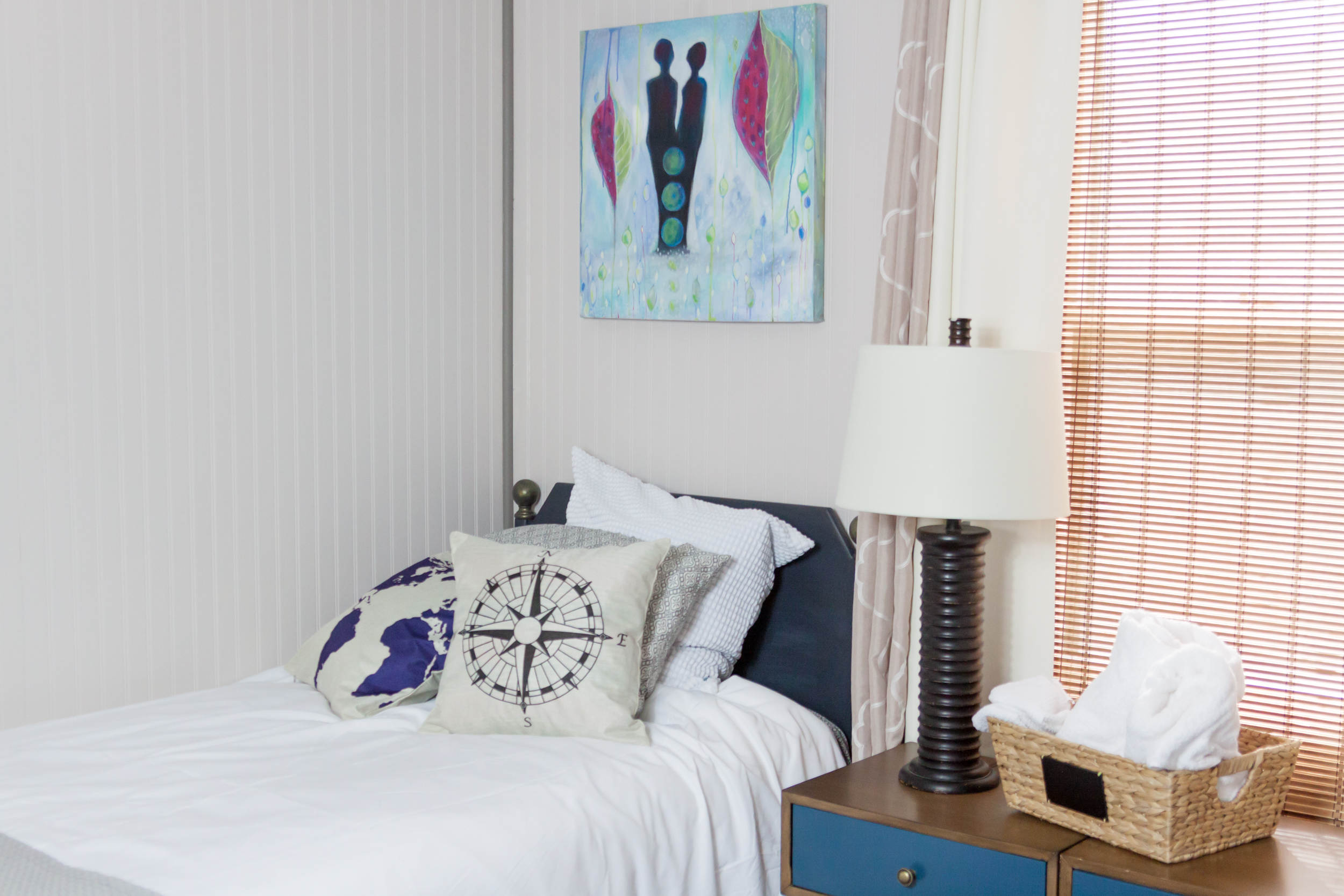 twin lakes bed and new art.jpg