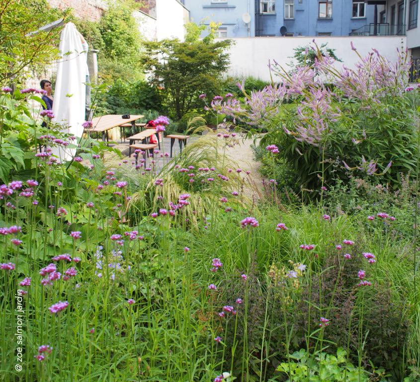 Jardin en Senne    jardin partagé réalisé en collaboration avec Zoé Salmon sur une dalle de béton au coeur de Bruxelles.
