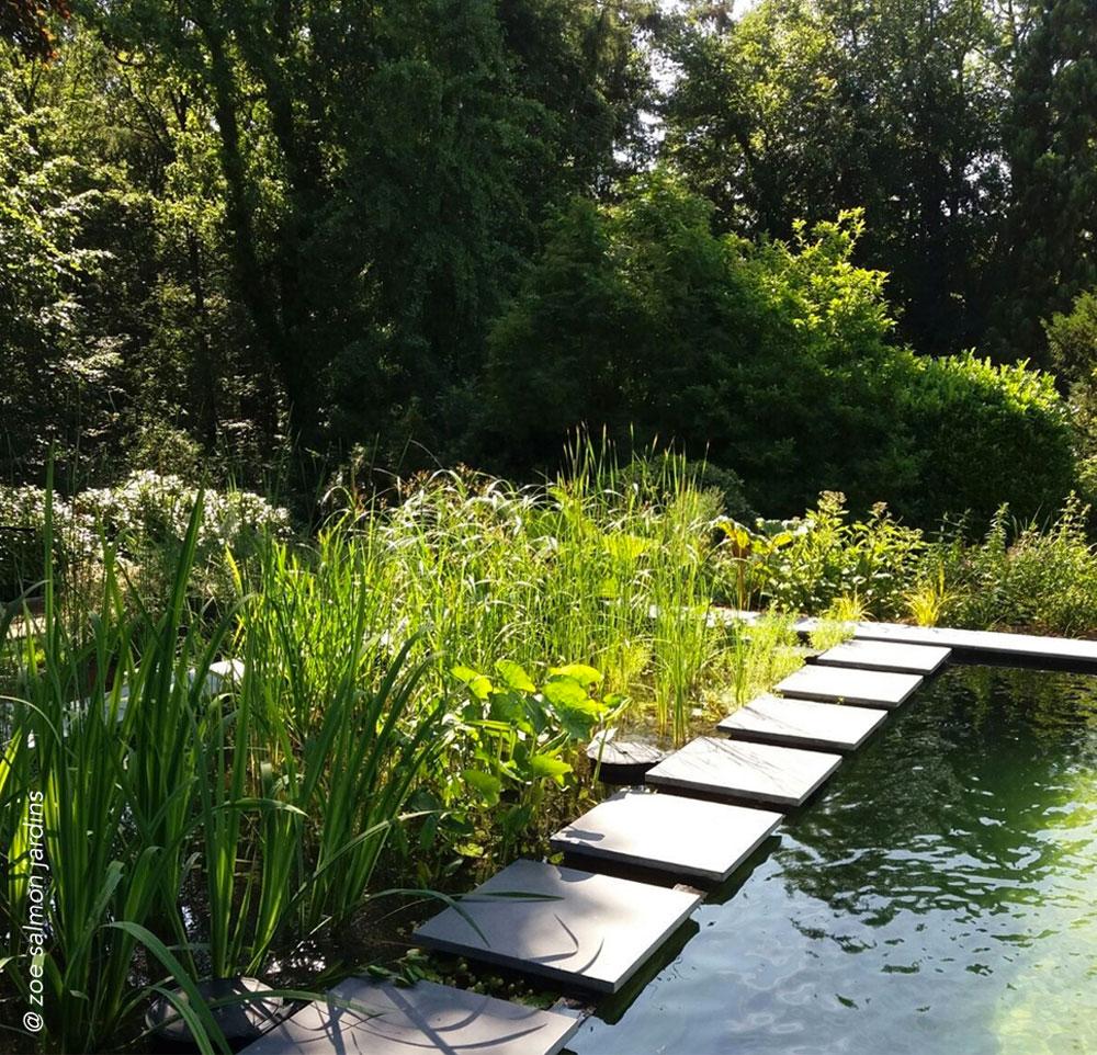Piscine naturelle en lisière du bois   jardin privé pour une habitation individuelle en lisière du bois. Réalisé en collaboration avec Zoé Salmon.