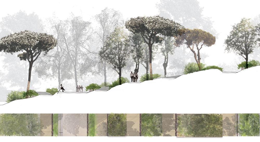 Un observatoire accessible à tous   étude pour l'aménagement d'un cheminement accessible à tous vers un point d'observation dans le parc naturel de Collserola (Espagne).