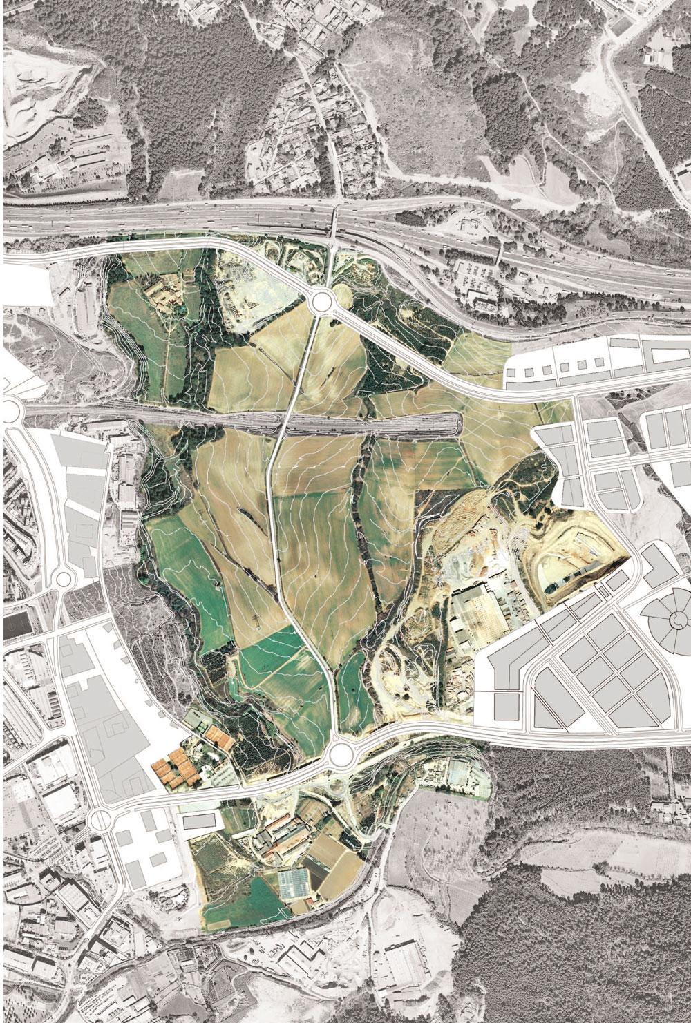 Aménagement d'un parc agricole et écoduc   concours pour l'aménagement d'un parc agricole et d'un écoduc à Cerdanyola (Espagne) avec l'agence de paysage JDVDP.