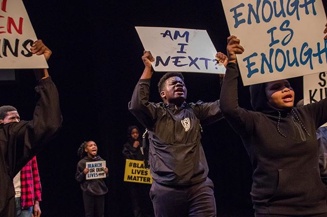 Using our art form to put an impact on this world #BUlive  #brooklynunited #brooklyn #nyc #offbroadway #blacklivesmatter