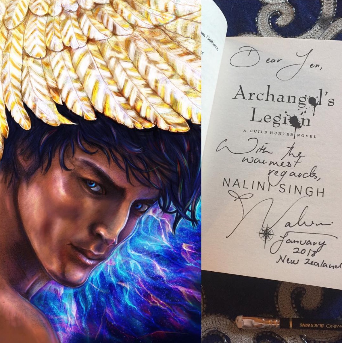 Major shoutout from one of my fav authors - I couldn't resist doing a bit of fan art of one of my favourite author's book series. It was so amazing to trade an art print for a signed copy of her book! Check out Nalini's books here.