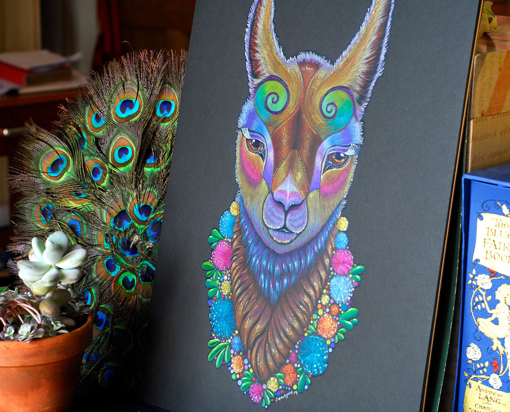 Llama Totem available  in my shop