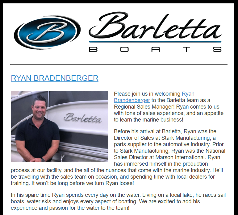 Welcome Ryan Brandenberger