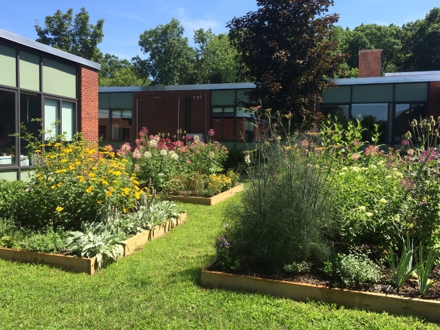 Pollinator Garden at Town of Marbletown Municipal Center - In July 2016, we contributed soil and mulch to build four beautiful beds at the Marbletown's Municipal Center. The Gardens were expanded in August 2017 by two beds which were dedicated to Maraleen Manos-Jones