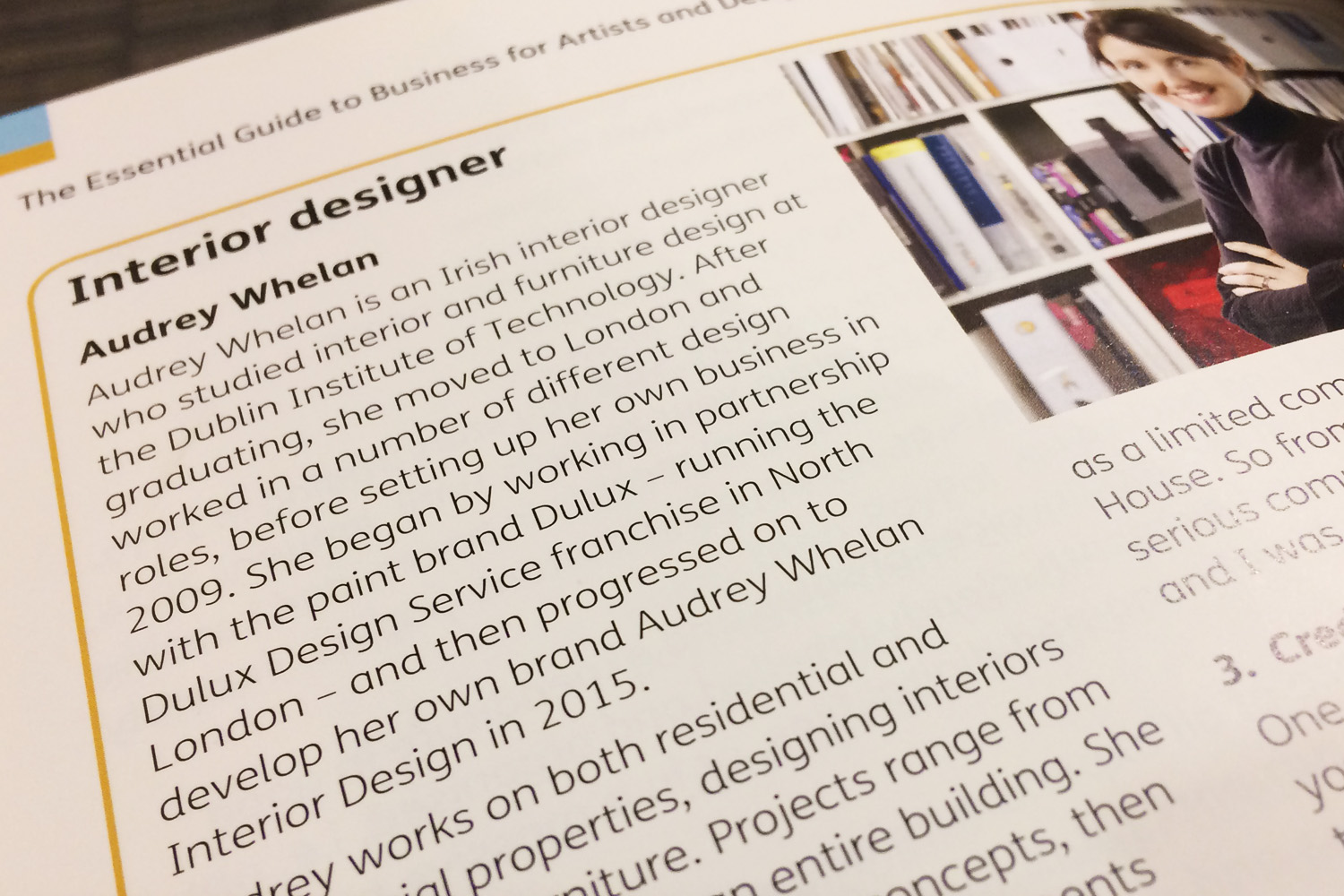 A snippet from the book 'The Essential Guide to Business for Artists and Designers'