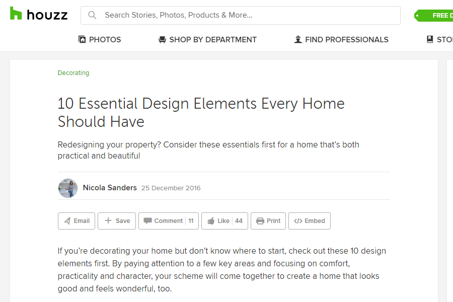 Audrey Whelan Interior Design featured on 10 Essential Design Elements Every Home Should Have