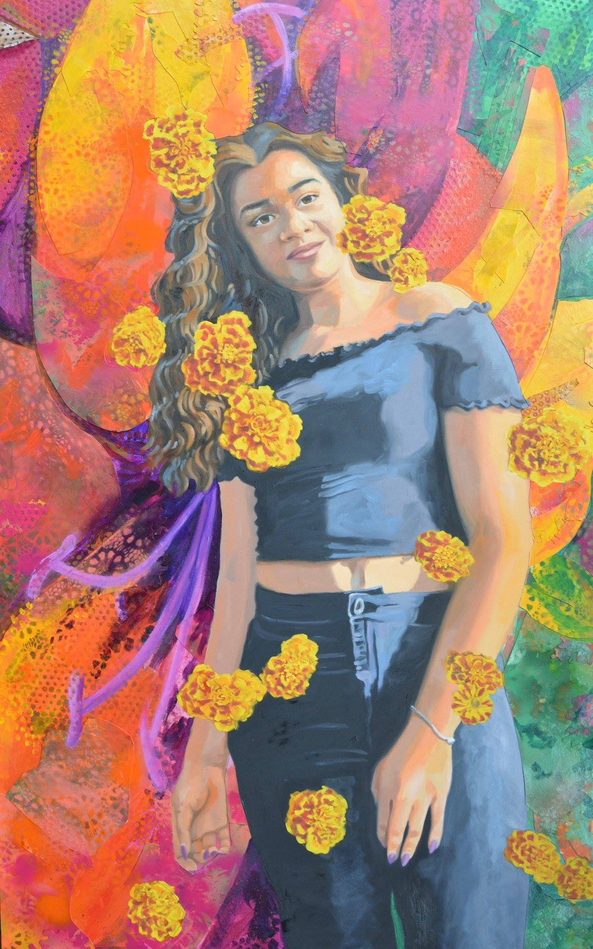16 Marigolds (Diamond) by Lauren Varga