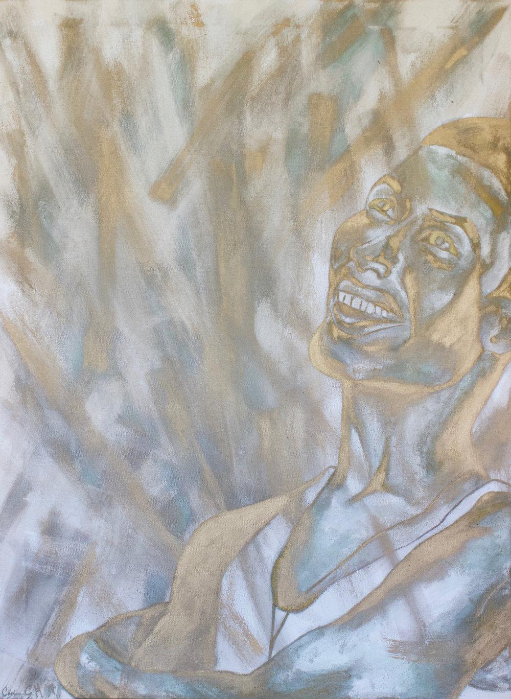 AARON M - PORTRAIT OF AARON MORRIS BY CORINNE HOLLOWAY