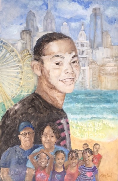 JARELL - PORTRAIT OF JARELL CHRISTOPHER SEAY BY HELENE HALSTUCH