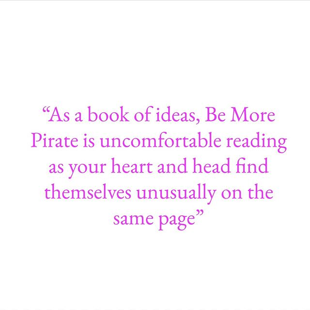 A little weekend reading? From the review by Sam Pena-Taylor (WARC)  #bemorepirate #pirate #books #bookstagram #innovation #leadership #rebels #rulebreaker #reviews #inspiration #quotes