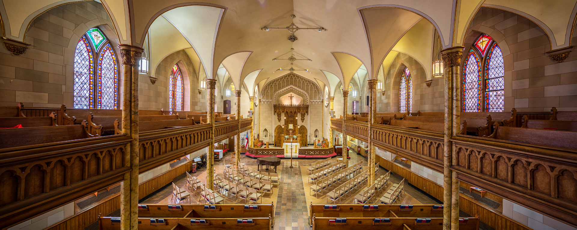 The Two Saints Sanctuary, as seen from the organ loft. Photo by Dave Braitsch.