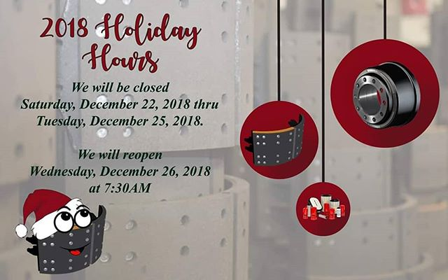 We will be closed for #Christmas  We will reopen Wednesday, December 26th at 7:30AM  at all locations.