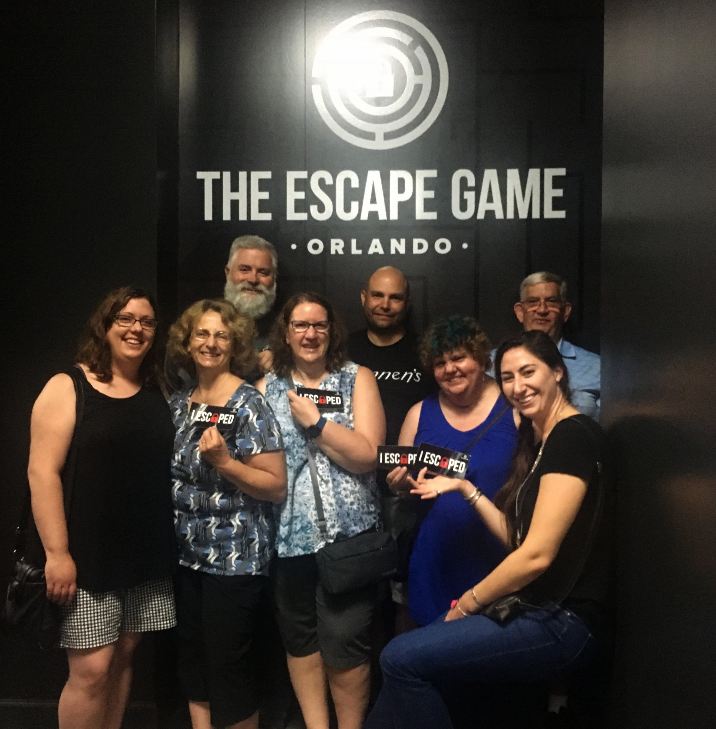 We escaped the Gold Rush room. Photography copyright: Chloe Olewitz.