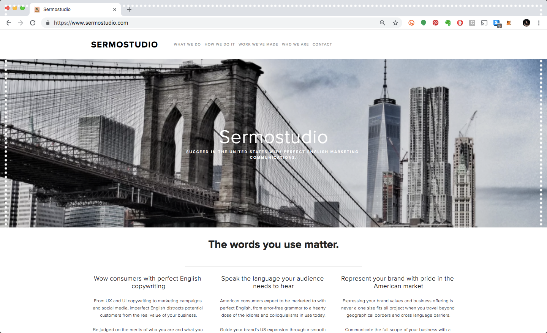 Sermostudio Website