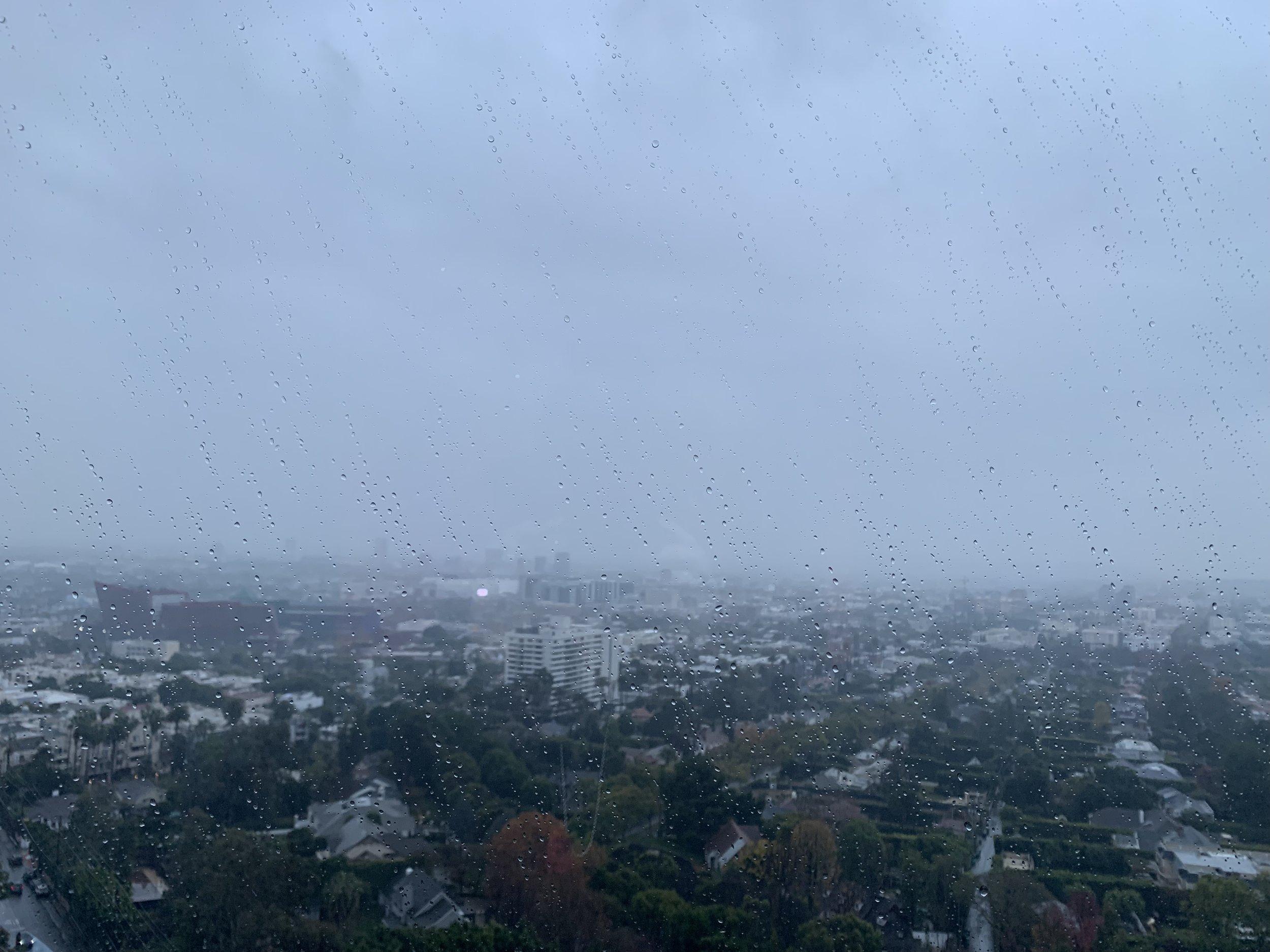 LA through the rain