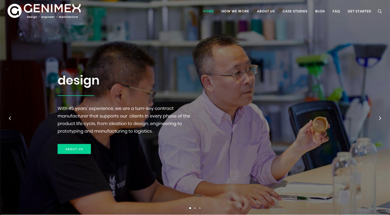 Genimex website copywriting