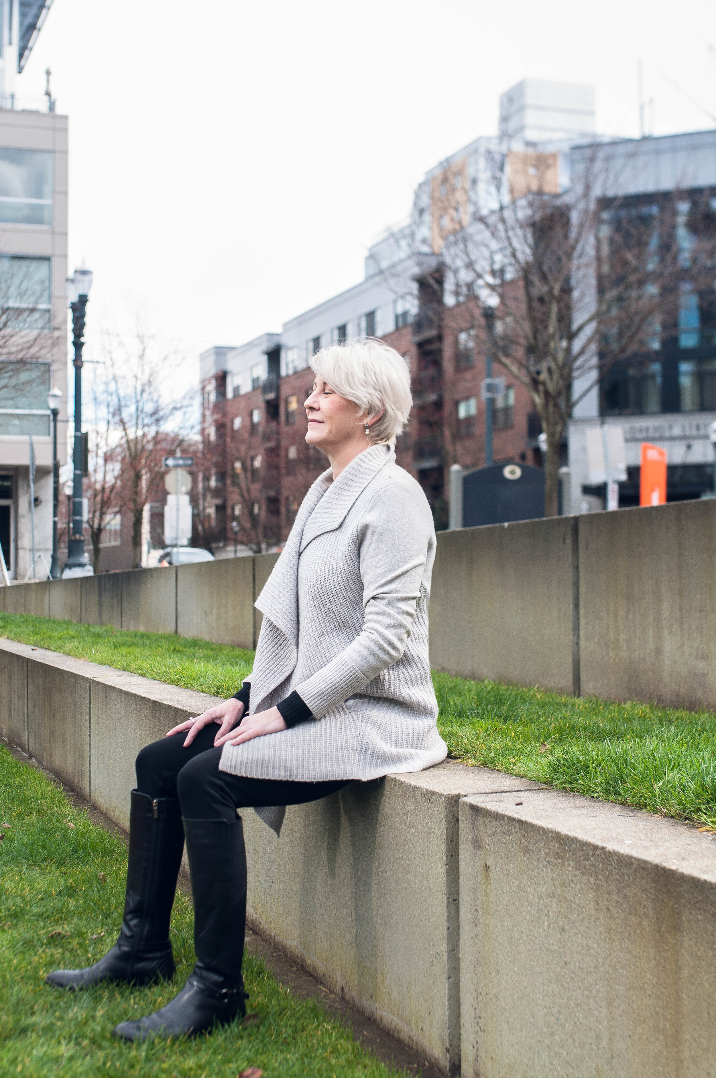 Suzanne Bigelow Mindful Breathing in Park