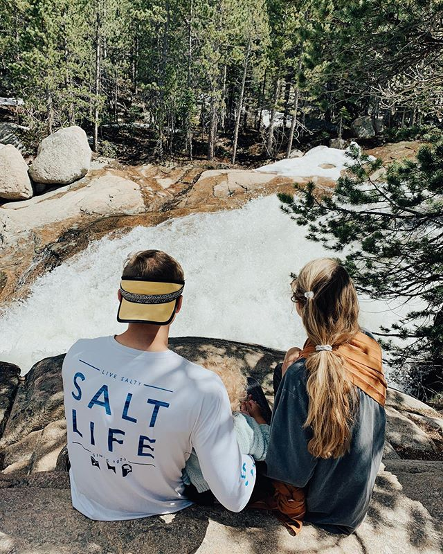 """watermark family camp in estes park was one for the books!! so many memories flooded back from growing up which made it especially amazing taking a husband + two kids there! so looking forward to this next week of just us four as we continue chasin waterfalls while slingin babies to our backs!!! so much life is breathed into us via outdoors clearly captured in pic 3 from ramz face + her little voice when she says """"look guys a reindeer"""" when we are 4 feet from a mama elk + her baby on our hike. 🏔🐿🌲"""