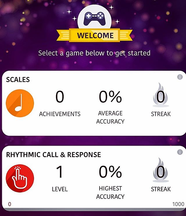 Build a streak on the games dashboard on #WURRLYedu!  Choose from our three games: ✅ Scales ✅ Rhythmic Call & Response ✅ Melodic Call & Response  #Games #Dashboard #WURRLYedu