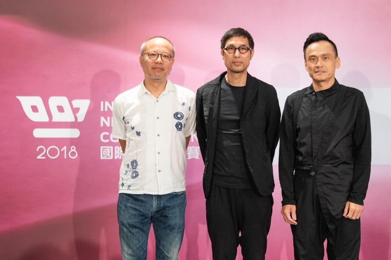 《小美》劇組,左起監製鍾孟宏、導演黃榮昇、演員陳以文。