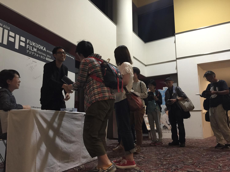 映後影迷與導演黃榮昇熱烈互動。  特別感謝樋口裕子(HIGUCHI Yuko)女士,從東京飛至福岡全場為我們翻譯。