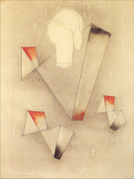 The Architect, 1935 Pencil on paper,  56 x 44 cms. Courtesy of the Galería Arvil, Mexico City
